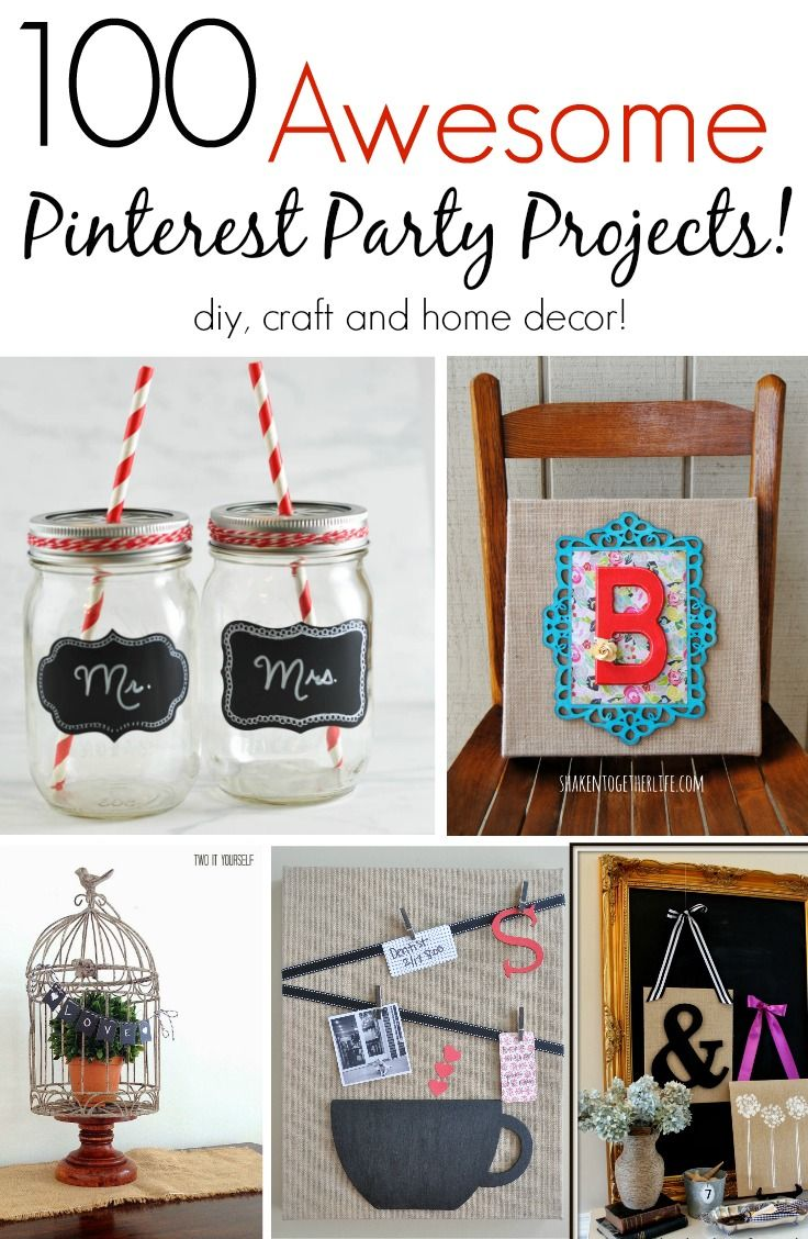 Awe Inspiring Diy Crafts 100 Awesome Pinterest Party Projects Great Diy Download Free Architecture Designs Embacsunscenecom