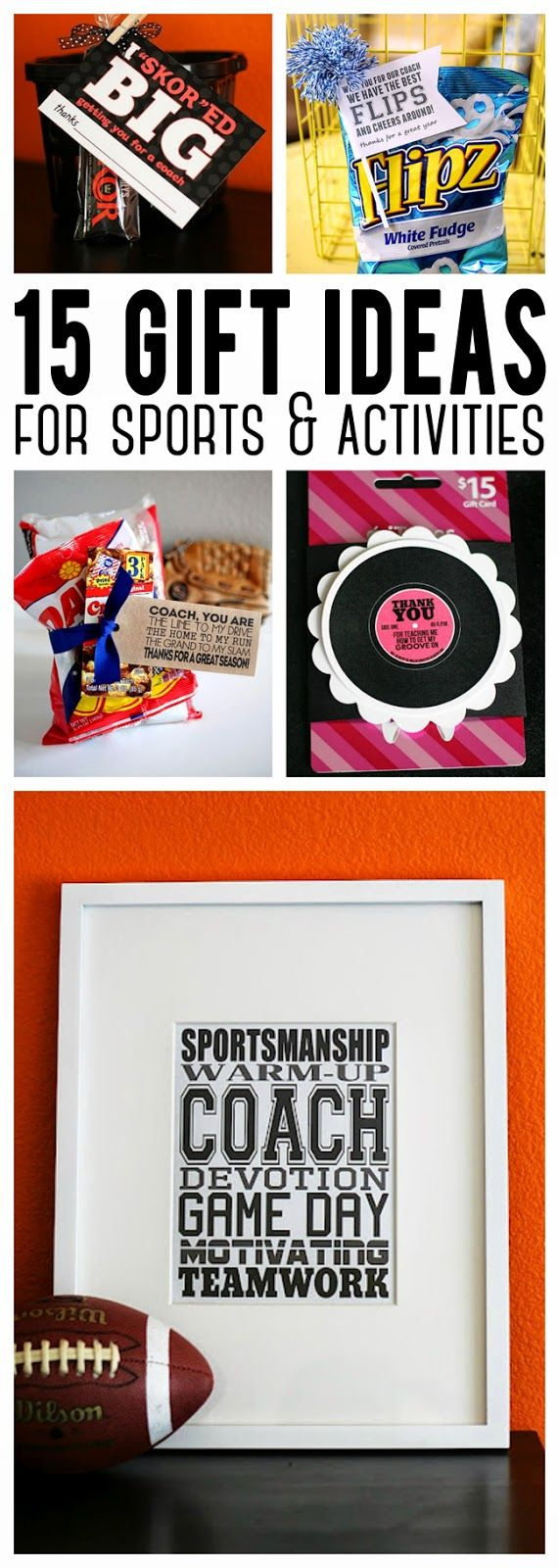 15 Fun Gift Ideas For Sports & Activities   Coach Gifts, teammate gifts, gifts f...