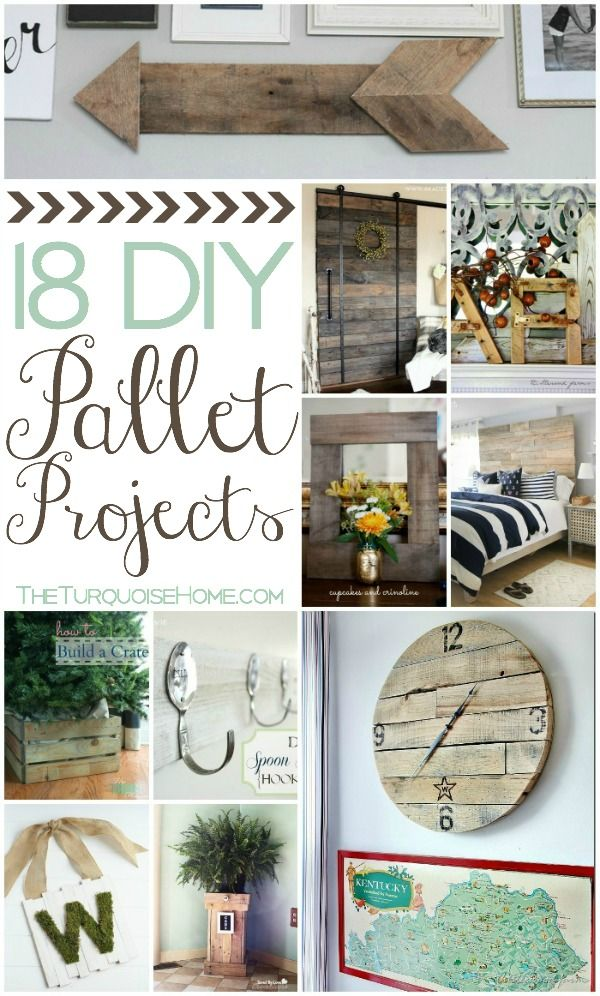 18 DIY Pallet Projects   TheTurquoiseHome.com