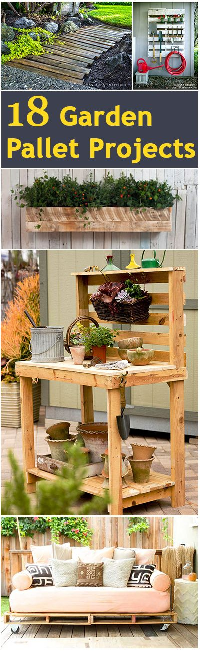 18 Garden Pallet Projects