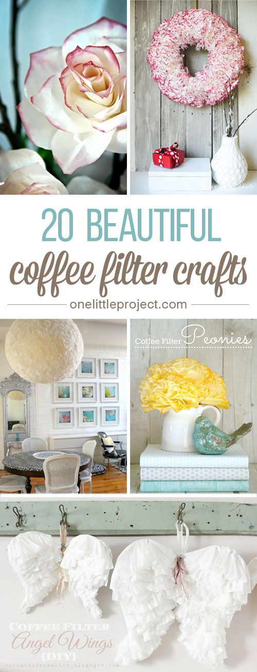 20 Beautiful Coffee Filter Crafts - Even if you don't drink coffee, you are ...