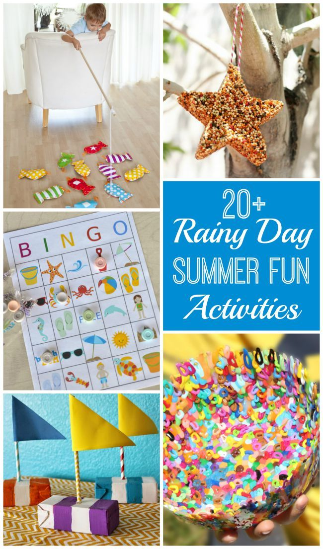 20 ideas for Rainy Summer Day Fun - don't let the rain ruin your day. Check ...