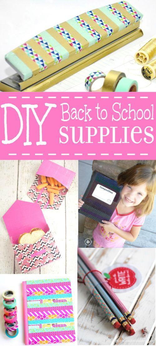 Diy Crafts 24 Diy Back To School Supplies Ideas And Organization