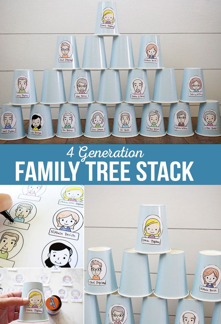 Diy Crafts 4 Generation Family Cup Stack Get To Know Your Family