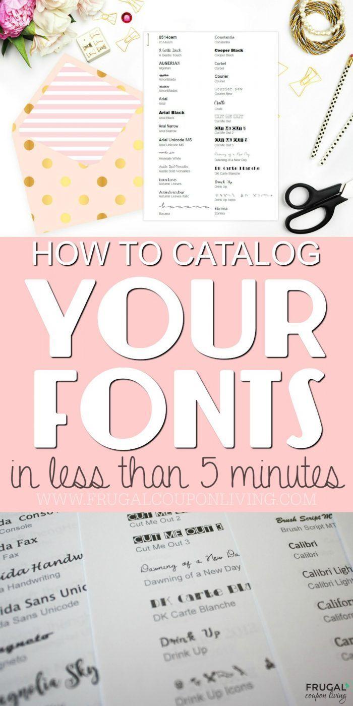 DIY Crafts : 5 Minute Tutorial – Print Your Fonts into a Font