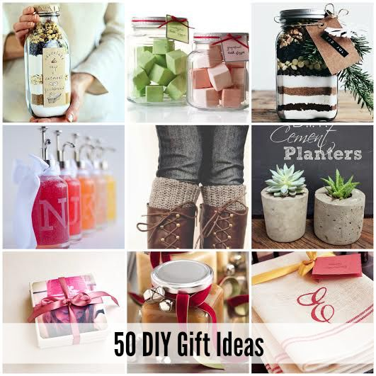 50 DIY Gift Ideas. It's never too early to get started on those handmade Chr...