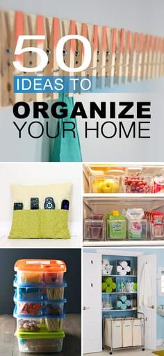 50 Ideas to Organize Your Home • Try these home organizing ideas, tips and hac...