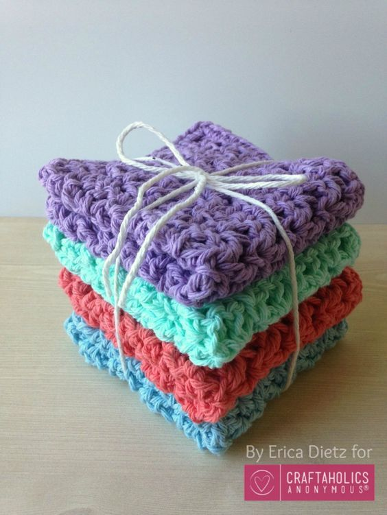 A nice gift for the holidays is this DIY crochet pattern washcloths or make it a...
