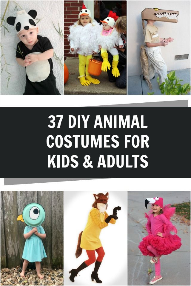 Adorable DIY Animal costumes for kids and adults!