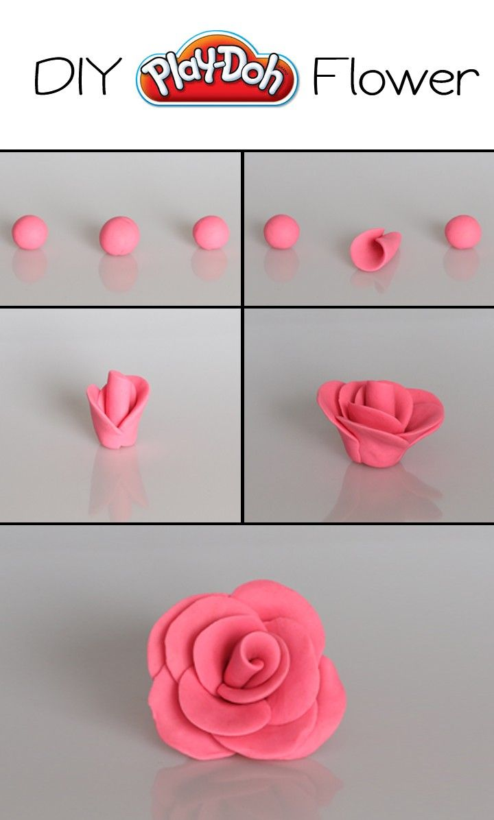 Adorable DIY Play-Doh Flowers made with Play-Doh compound