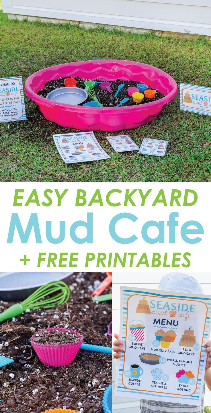 Diy Crafts Backyard Mud Cafe An Easy Outdoor Imaginative Play