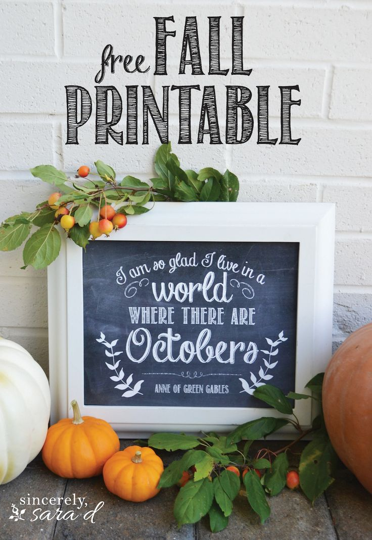 Beautiful free Fall printable. To download yours, click HERE.