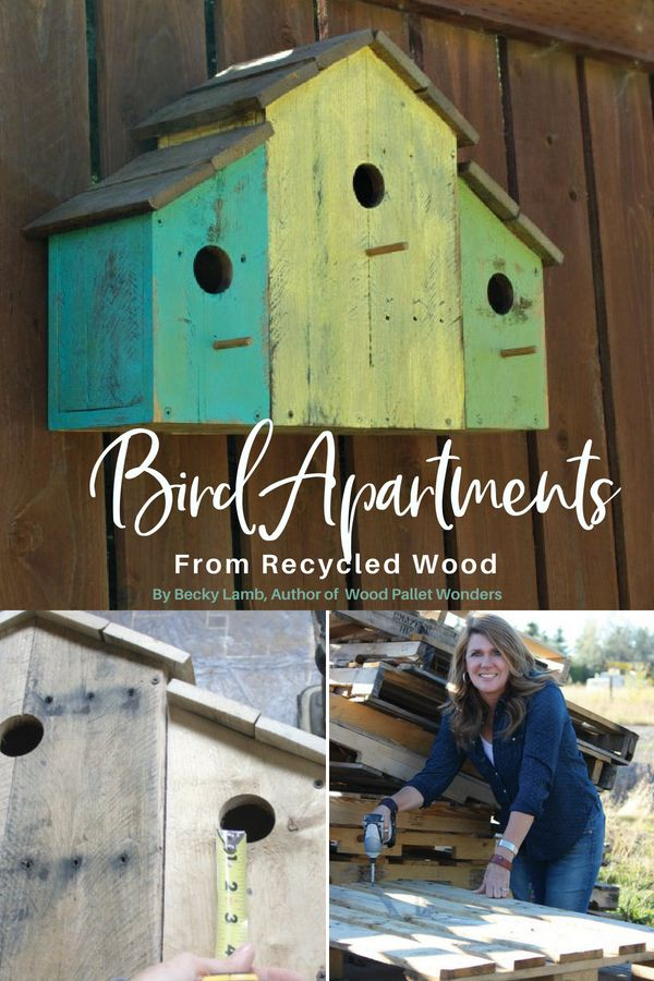 Bird apartments made from recycled wood - these cute bird apartments are a styli...