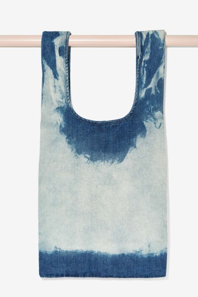 Bleached Denim Tote Bag