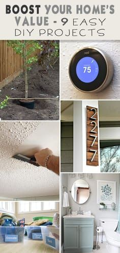 Boost Your Home's Value : 9 Easy DIY Projects! • Easy bathroom remodel, curb...