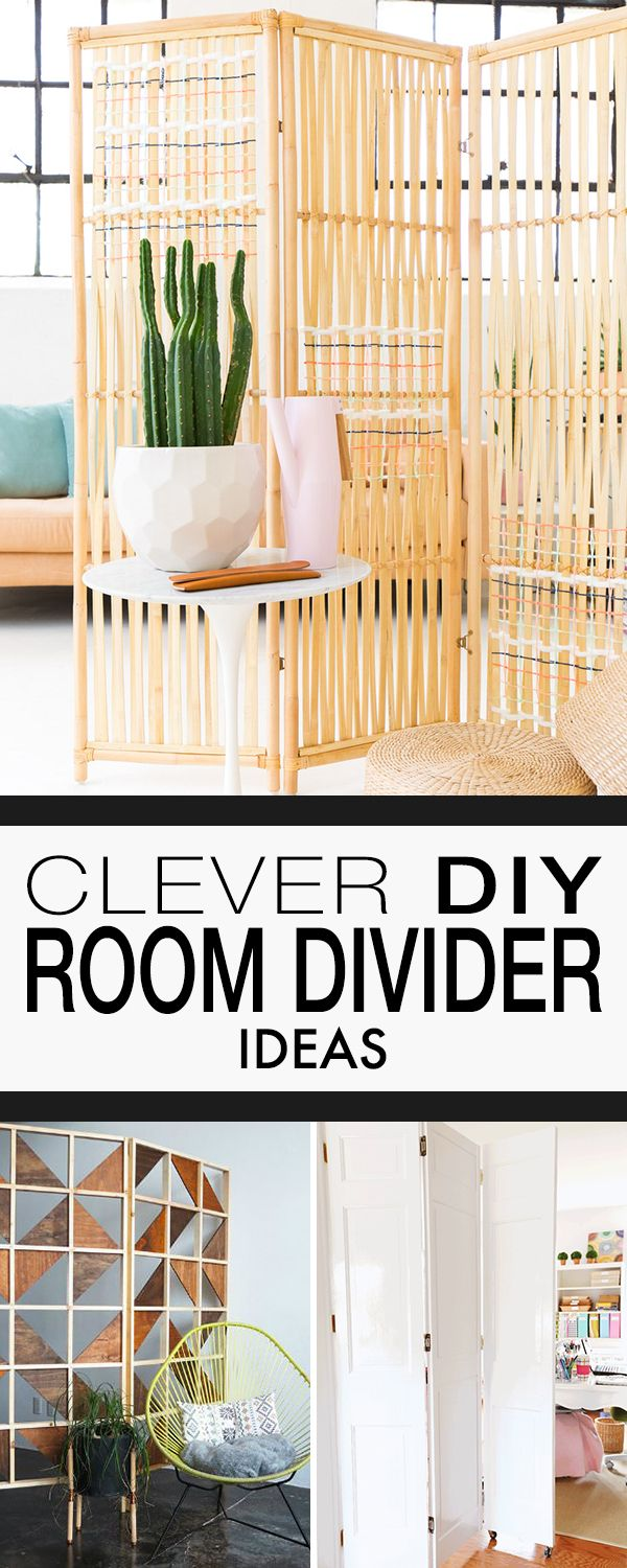 Clever DIY Room Divider Ideas! • Lots of great ideas, projects and tutorials f...