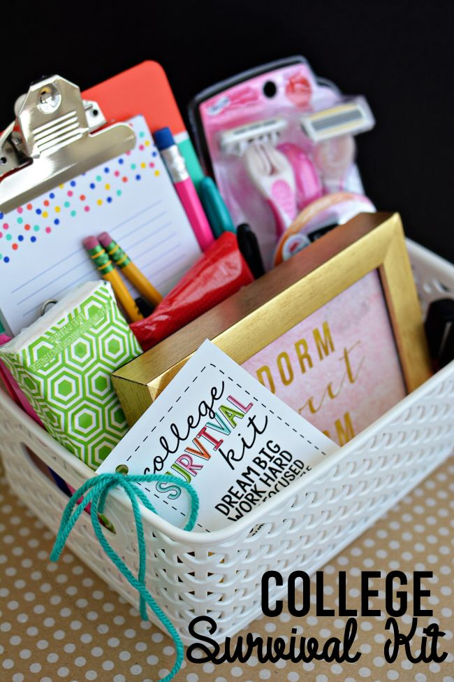College Survival Kit with printables - cute gift idea for someone on their way t...