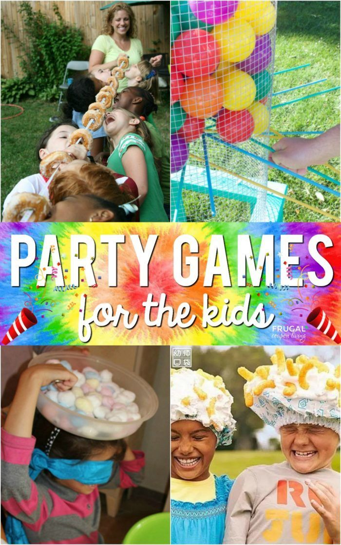 Creative Kids Party Games for your celebration. These ideas transfer well to bir...