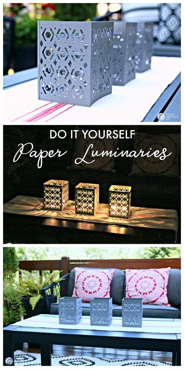 Cricut Scoring Wheel Paper Luminaries   DIY Craft Ideas   Cricut Maker Project I...
