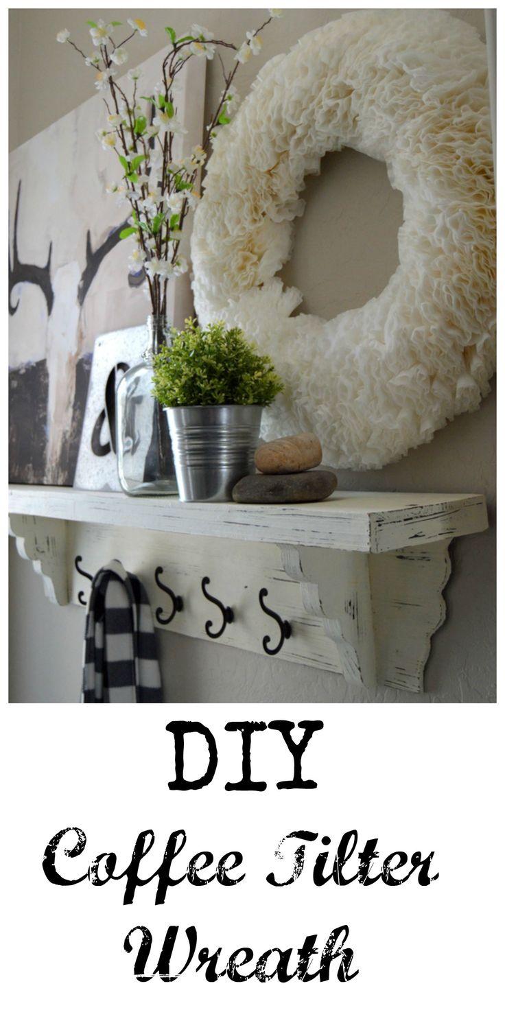 DIY Coffee Filter Wreath   Home Remedies