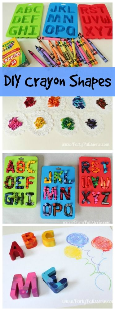 DIY Crayon Shapes! Kids will love making your own colorful crayons! Great summer...
