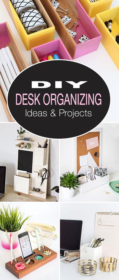 DIY Desk Organizing Ideas & Projects! • We found some amazing DIY desk organiz...