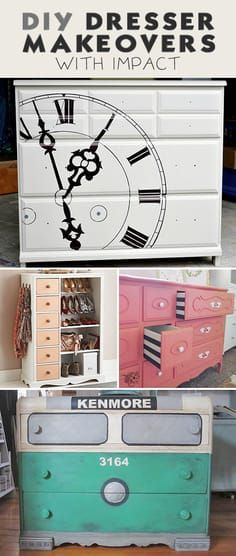 DIY Dresser Makeovers with Impact! • Cool projects and tutorials that you can ...