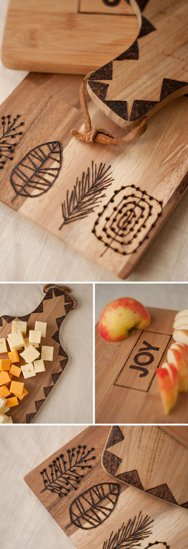 DIY Gifts for Friends & Family | DIY Kitchen Ideas | Etched Wooden Cutting Board...