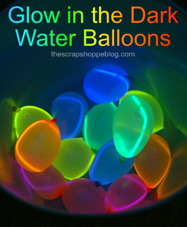 DIY Glow in the dark water balloons! Easy to make and super fun for kids this su...