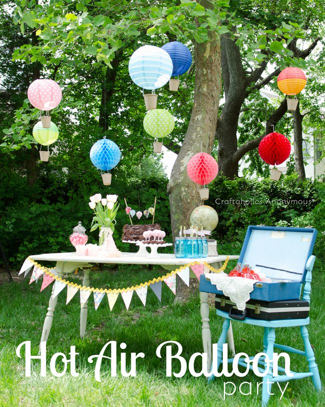 DIY Hot Air Balloon Birthday party idea! 1st birthday party
