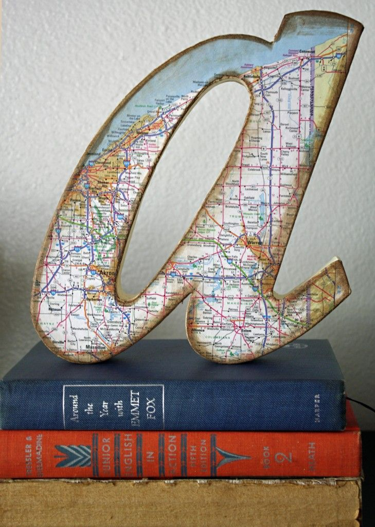 DIY Map Page Letters