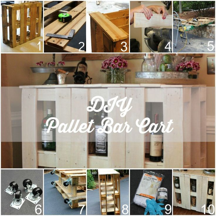 DIY Pallet Bar Cart with step by step instructions!