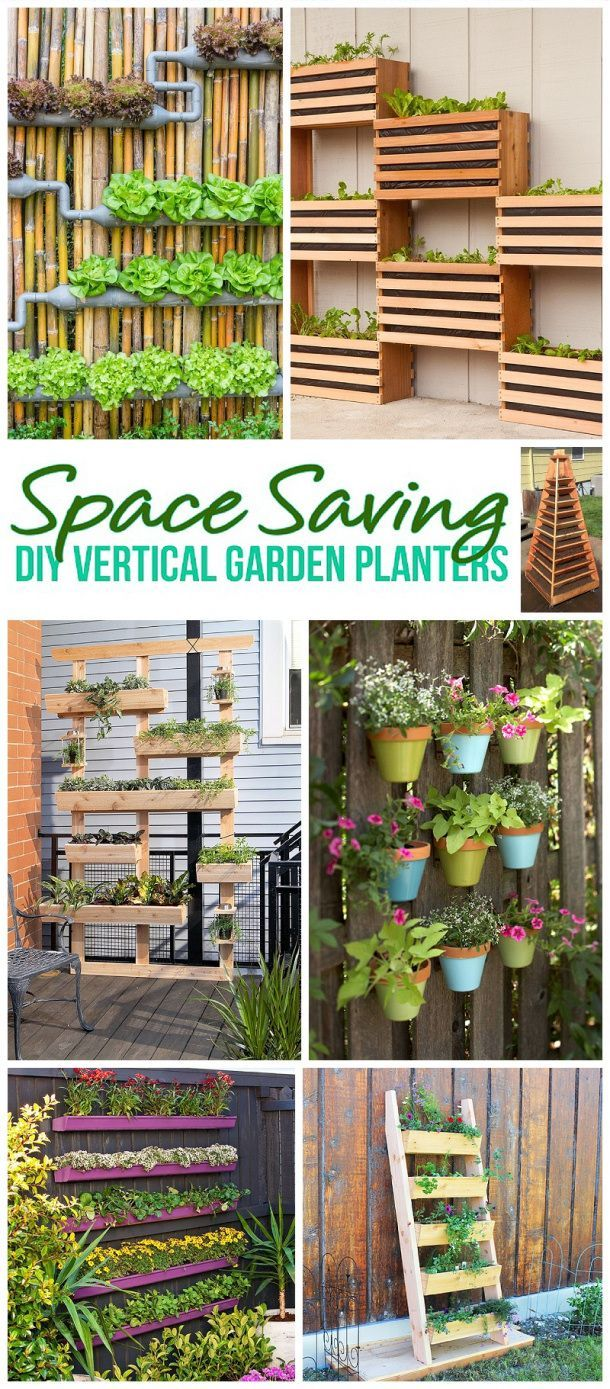 DIY Projects for the Weekend! The BEST DIY Space Saving Vertical Garden Planters...