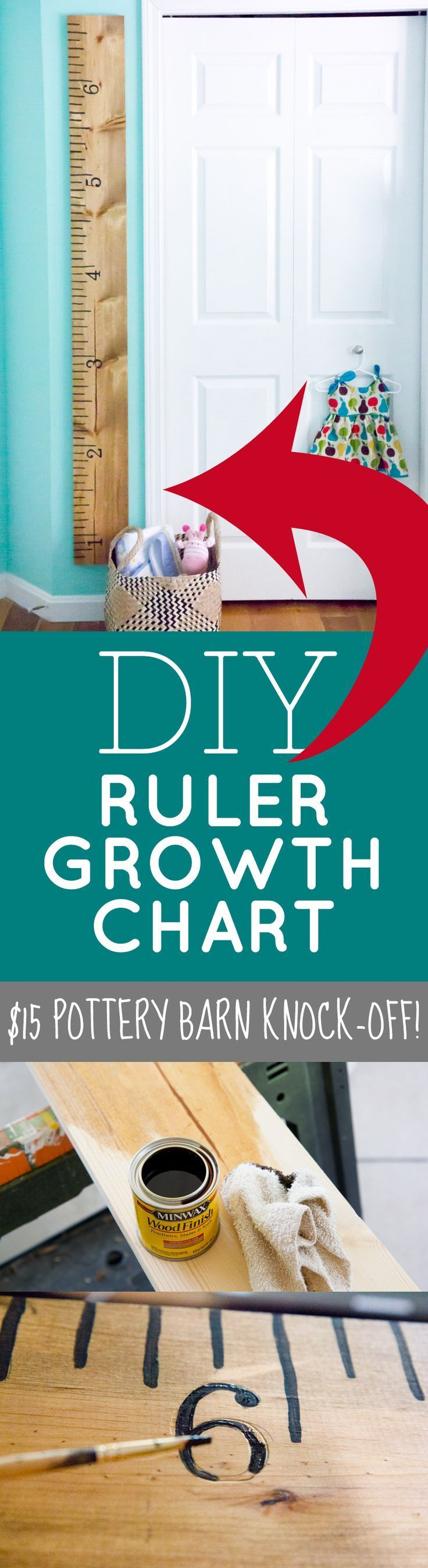 DIY Ruler Growth Chart  Such an easy craft that you can DIY! Sweet addition to a...