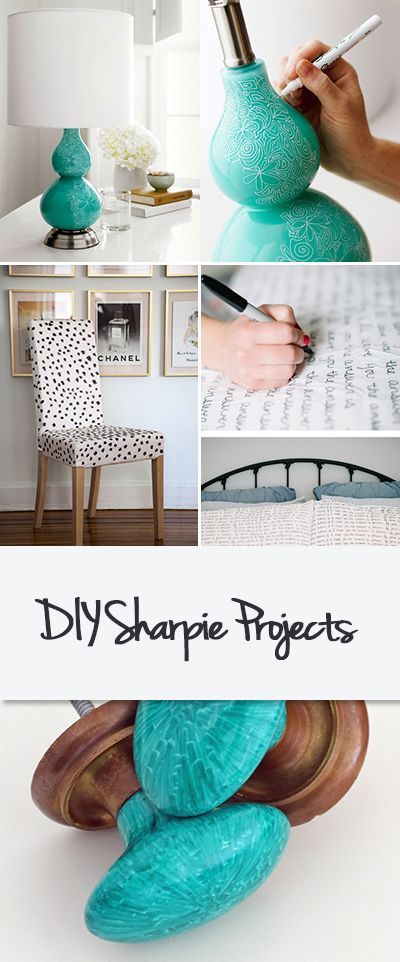 DIY Sharpie Projects • Home decorating projects you can do with just a Sharpie...