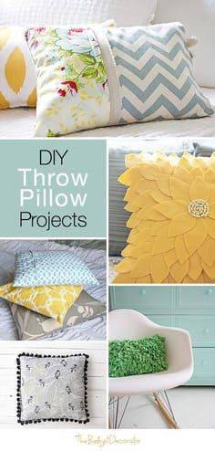 DIY Throw Pillow Projects • Great Ideas & Tutorials on how to make a throw pil...