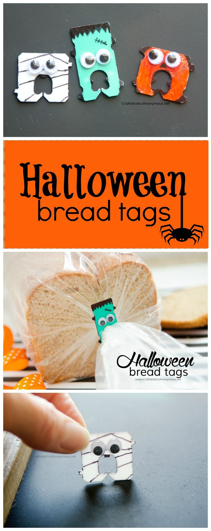 DIY little idea to brighten your halloween spirit! Add them to party favors or h...