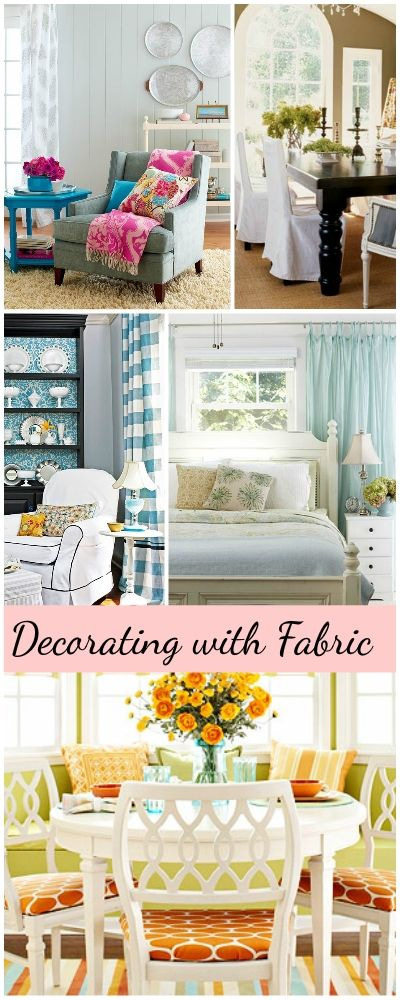 Decorating with Fabric • Ideas & Tips!