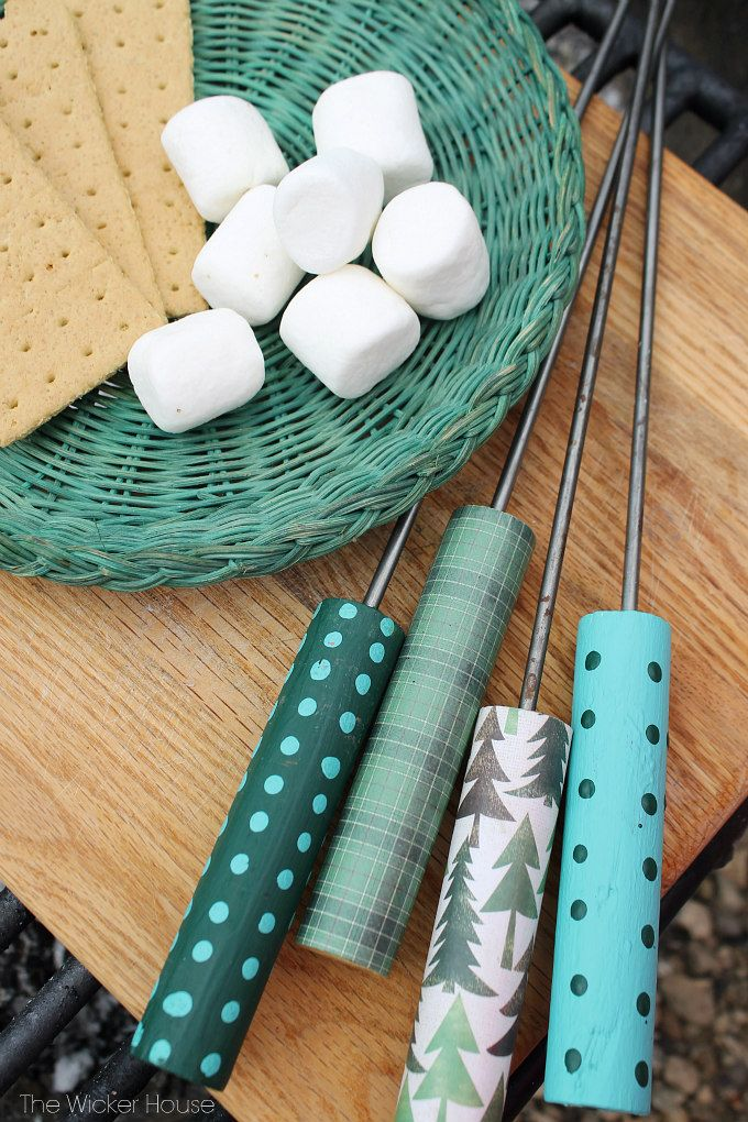Decorative Roasting Sticks for Smores or Hot Dogs featured on Ella Claire Design...