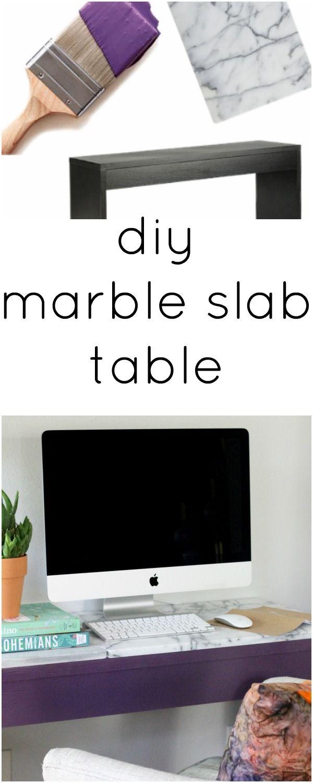 Fantastic Diy Crafts Easy Diy Marble Slab Table Diyall Net Home Home Interior And Landscaping Ponolsignezvosmurscom