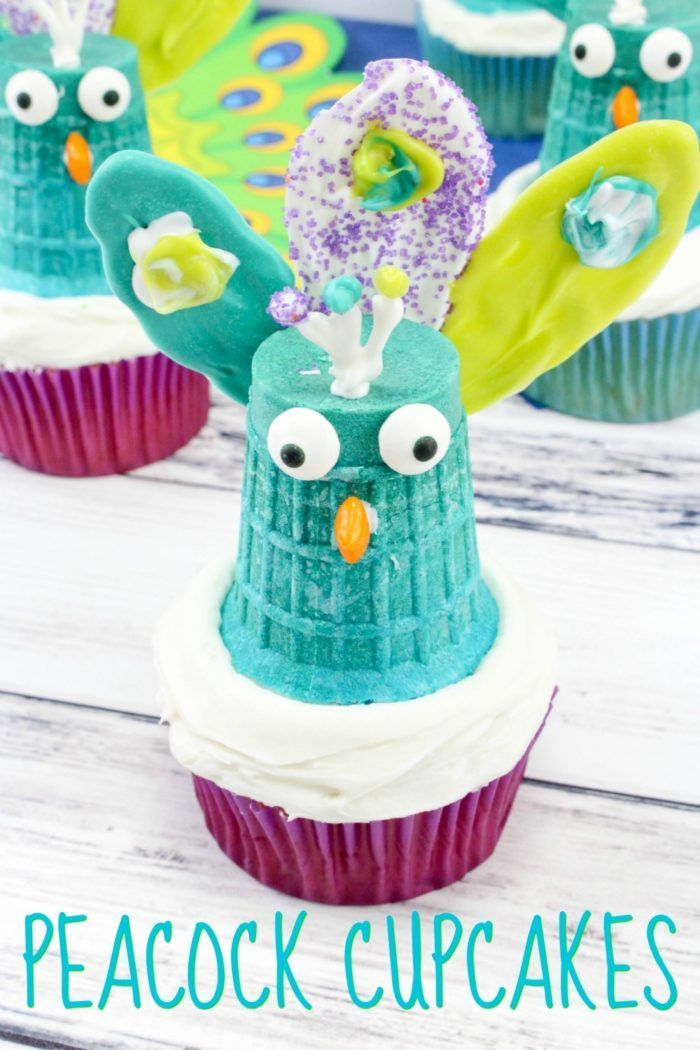 Diy Crafts Easy Peacock Cupcakes For Your Bird Themed Birthday