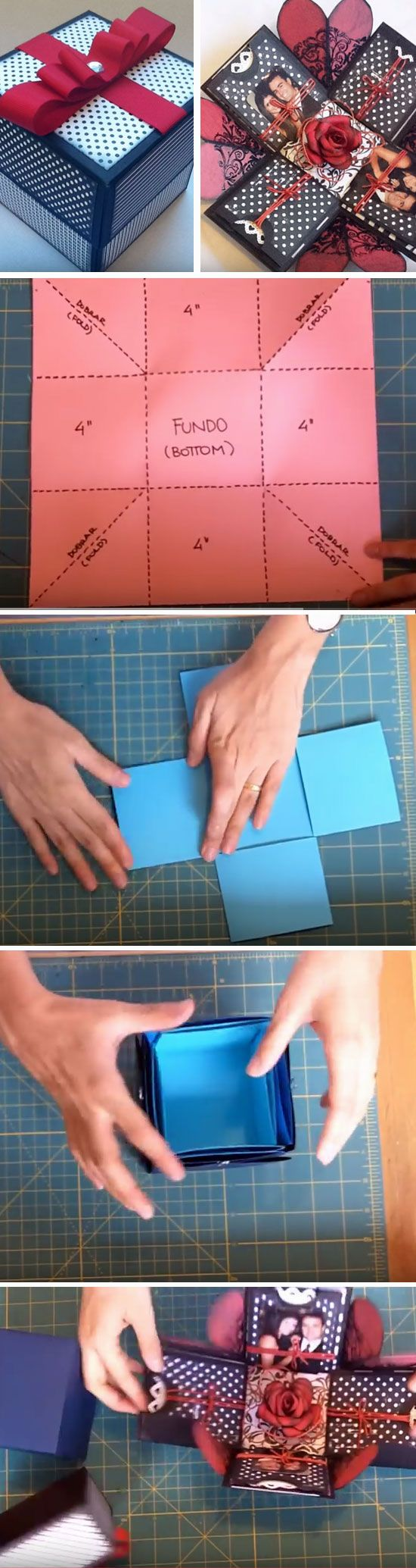 DIY Crafts : Explosion Box | Click Pic for 22 DIY Christmas Gifts ...