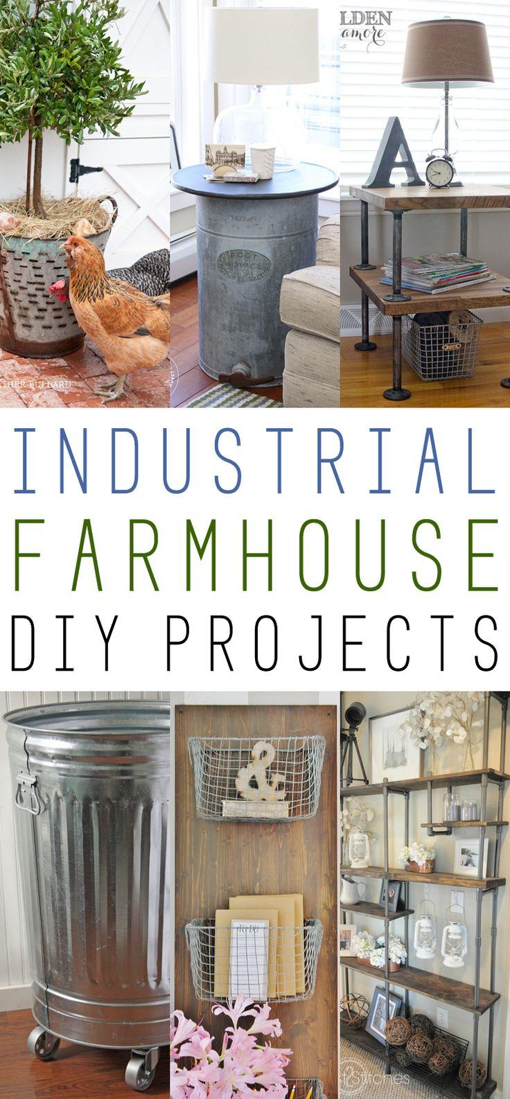 Farmhouse Fridays /// Industrial Farmhouse DIY Projects - The Cottage Market