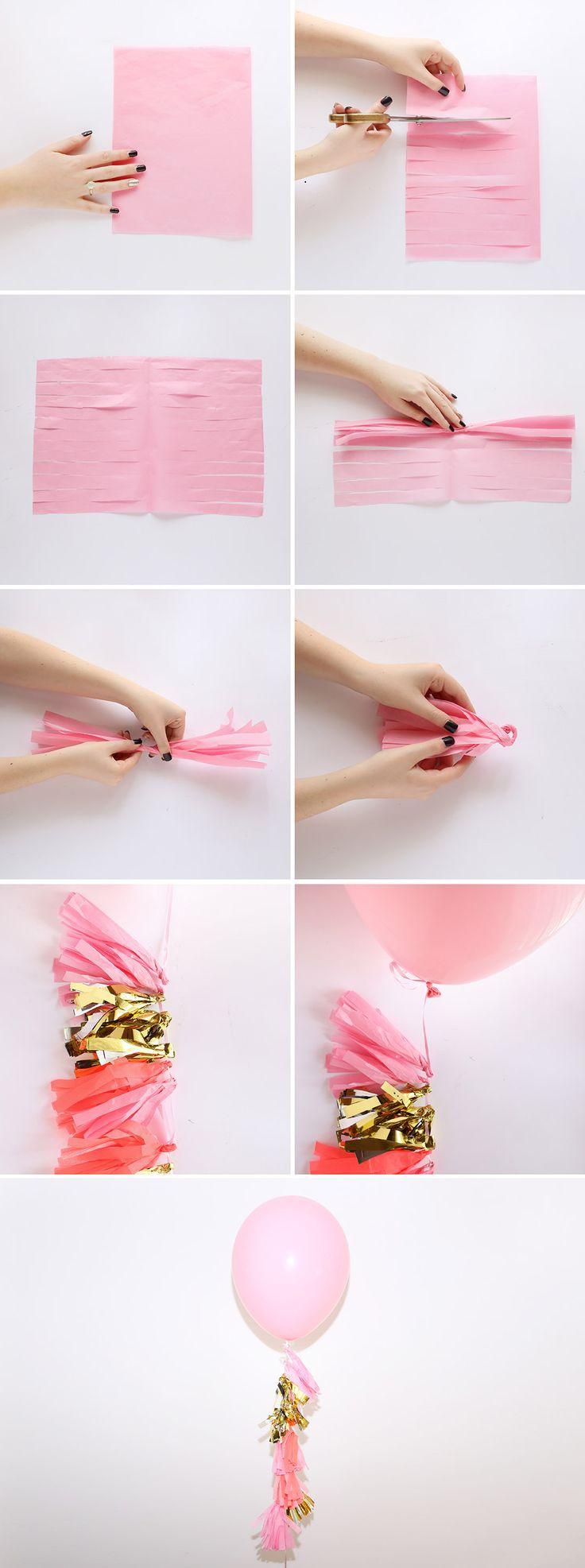 Follow this tutorial to create a festive tassel balloon.