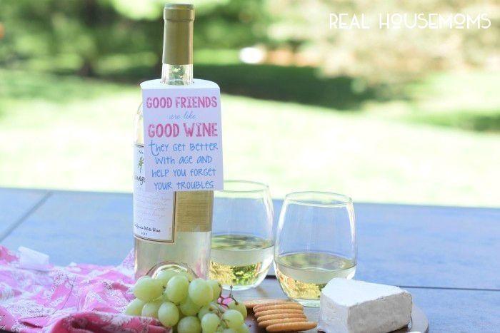 Free Wine Tag Printable