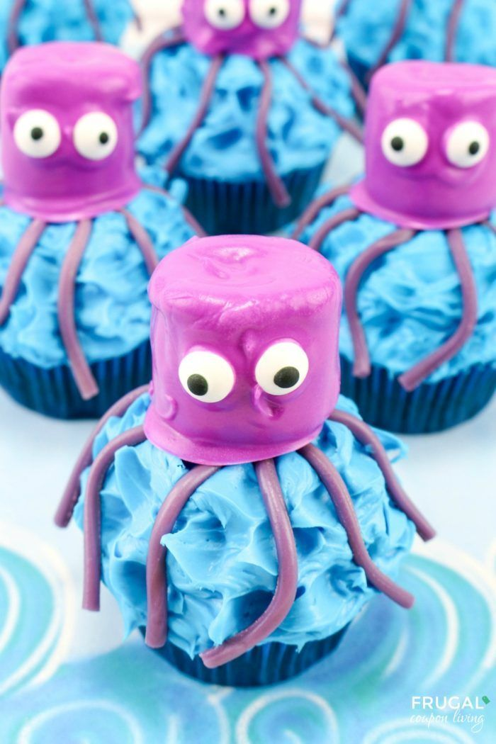 #FrugalCouponLiving #octopuscupcakes #giantsquid #giantsquidcupcakes #cupcakes #...