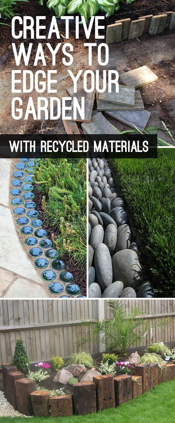 Diy Crafts Garden Edging Landscape Edging Ideas With Recycled