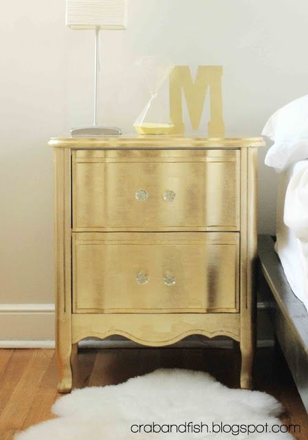Gild a secondhand bedside table. | 23 DIY Ways To Fake It Until You MakeIt