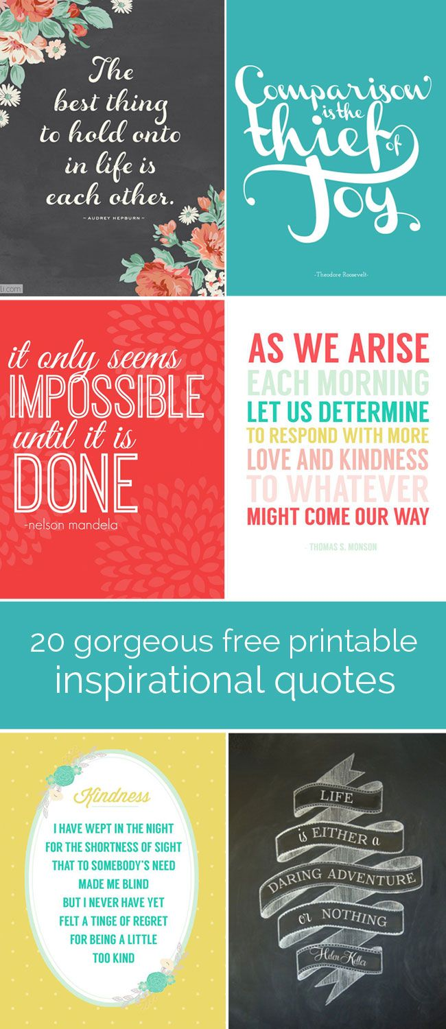 DIY Crafts : Great roundup of free printable inspiration quotes