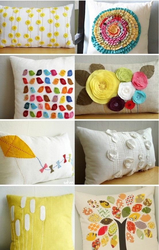 Handmade pillow ideas